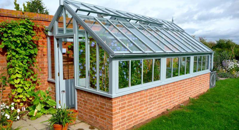Victorian gallery white cottage for Build a victorian greenhouse